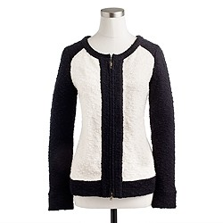 Bouclé jacket in colorblock