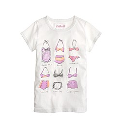Girls' swim sketch tee