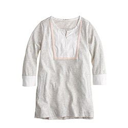 Girls' bib-front pocket tunic