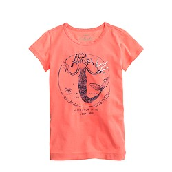 Girls' beaded mermaid tee