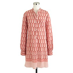 Nili Lotan® for J.Crew beach dress in wood-block print