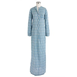 Nili Lotan® for J.Crew beach maxidress in wood-block print
