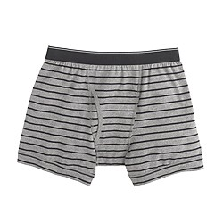 Knit boxer briefs in stripe