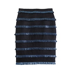 Pre-order Collection fringed linen skirt