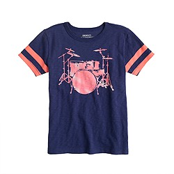 Boys' drum set tee