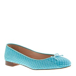 Collection Kiki snakeskin ballet flats