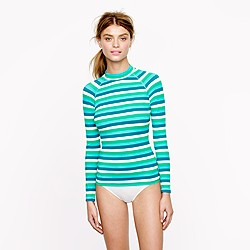 Caribbean stripe rash guard