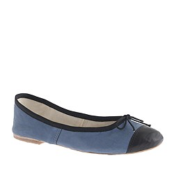 E. Porselli for J.Crew cap toe leather ballet flats