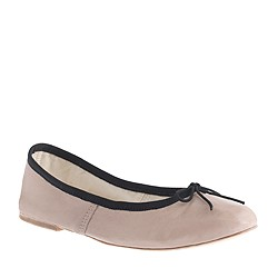E. Porselli for J.Crew leather ballet flats