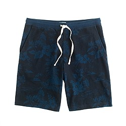 Heavyweight cotton short in floral pattern