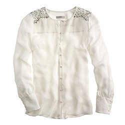 Collection shoulder-lace blouse