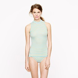Double-stripe sleeveless rash guard