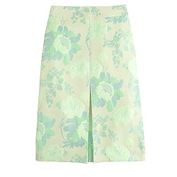 Collection neon floral jacquard skirt
