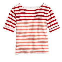 Lightweight terry tee in stripe