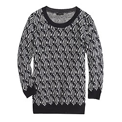 Merino Tippi sweater in school-of-fish print