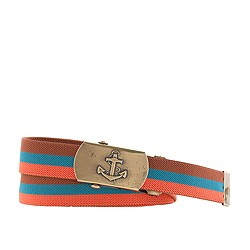 Boys' tri-color stripe elastic belt