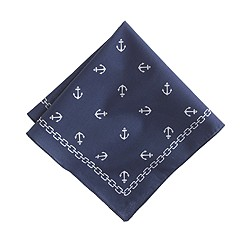 Anchor-print pocket square