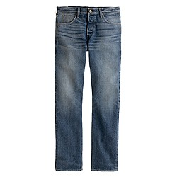 Wallace & barnes slim selvedge jean in indigo fade