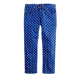 Girls' ankle toothpick jean in dot