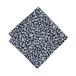 Indigo mini-floral pocket square