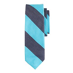 Old-school repp-stripe tie