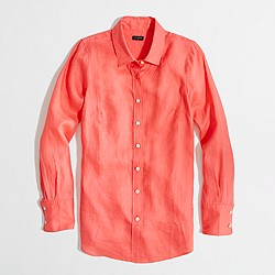 Factory classic button-down shirt in linen