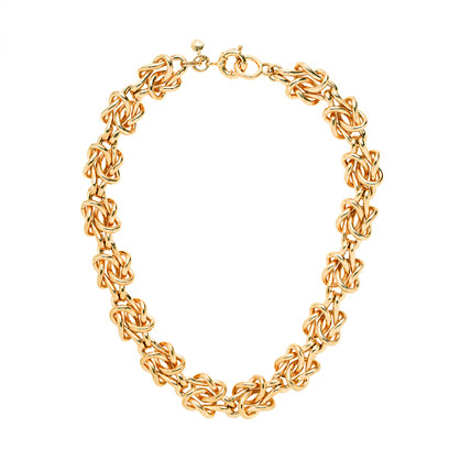 Golden knot necklace