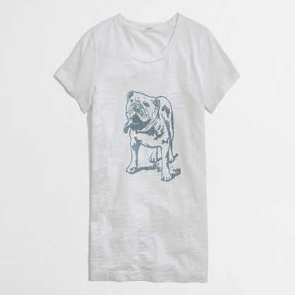 Factory bulldog graphic tee