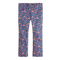 Girls' ankle toothpick jean in neon floral