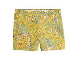 Orange paisley short