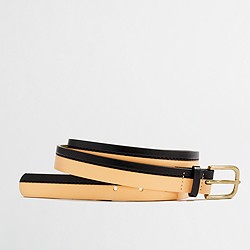 Factory two-tone leather belt