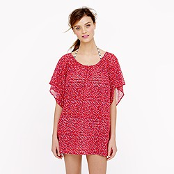 Caftan tunic in rosebud