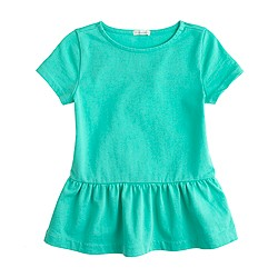 Girls' short-sleeve peplum tee