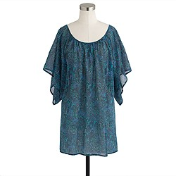 Caftan tunic in cove paisley