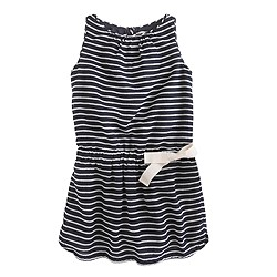 Girls' stripe day dress