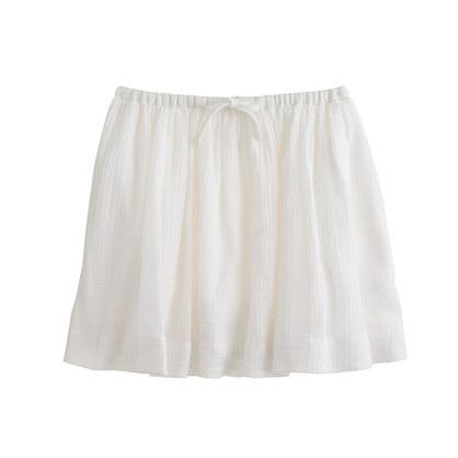 Girls' full skirt in cotton gauze