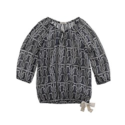 Girls' rope stripe top