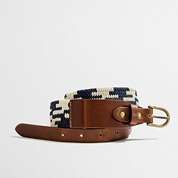 Factory navy stretch belt