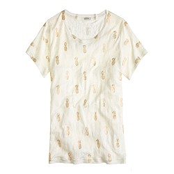 Linen golden pineapple tee