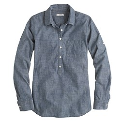 Camp popover in selvedge chambray