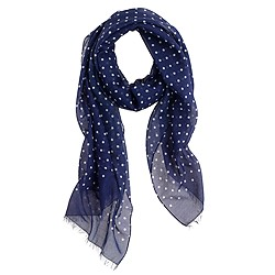 Drake's® lightweight cotton silk scarf