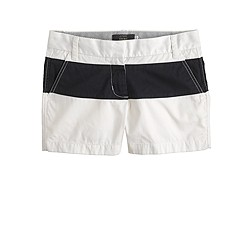 "4"" chino short in colorblock"