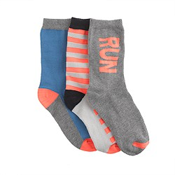 Boys' home run socks three-pack