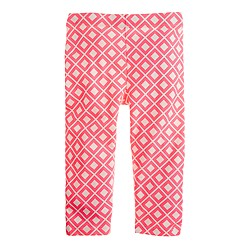 Girls' everyday capri leggings in neon diamond