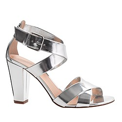 Mari metallic sandals