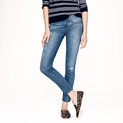 Toothpick jean in distressed Cone® denim