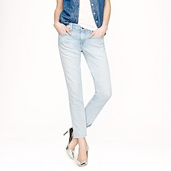 Cropped vintage straight jean in indigo foam wash