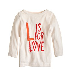Girls' L is for love popover