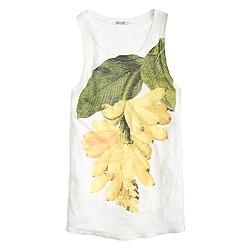 Pre-order linen banana botanical tank