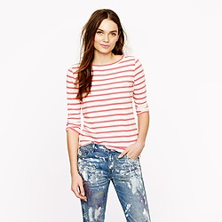 Long-sleeve pocket tee in stripe
